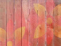 Wooden fence with flower pattern Royalty Free Stock Photos