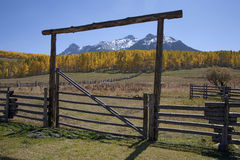 Wooden fence frames Royalty Free Stock Image