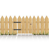 Wooden fence with gate Royalty Free Stock Image