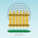 Wooden fence. Grass concept. Royalty Free Stock Photography