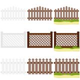 A wooden fence with grass. vector illustration