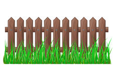Wooden Fence with grass isolated vector symbol icon design. Beautiful illustration isolated on white background Royalty Free Stock Images