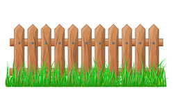 Wooden Fence with grass isolated vector symbol icon design. Beautiful illustration isolated on white background Stock Images
