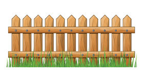 Wooden Fence with grass isolated vector symbol icon design. Beautiful illustration isolated on white background Royalty Free Stock Photography