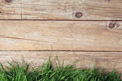 Wooden fence and grass Stock Images