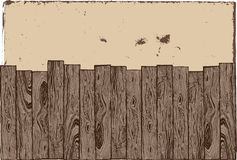 Wooden fence with grunge background. royalty free illustration