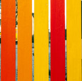 Wooden fence in harmonic   colors Royalty Free Stock Image