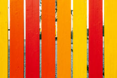 Wooden fence in harmonic colors Royalty Free Stock Photography