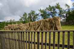 Wooden fence hay Stock Images