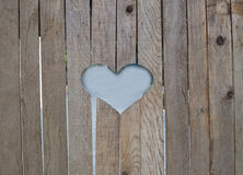 Wooden fence with heart Royalty Free Stock Photo