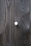 Wooden fence with a hole. The background is absent royalty free stock images
