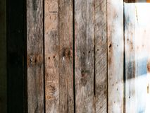 Wooden Fence between Homes Stock Photos