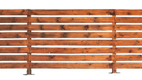 Wooden fence with horizontal boards Royalty Free Stock Photos