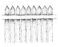 Wooden fence. Illustration of a wooden fence Royalty Free Stock Photography