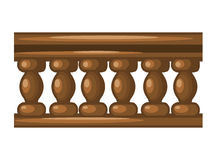 Wooden fence  illustration Royalty Free Stock Image