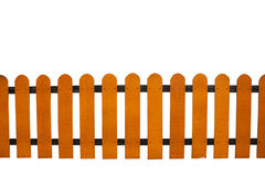 Wooden fence isolate. Over white background Stock Photos