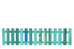 Wooden fence isolate on the white background Stock Photography
