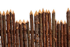 Wooden fence isolated Stock Photo