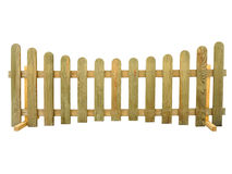 Wooden fence isolated over the white Royalty Free Stock Photography