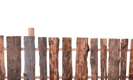Wooden fence isolated. On white stock images