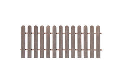 Wooden fence isolated on white background Royalty Free Stock Image