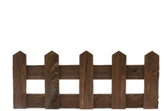 Wooden fence isolated on white background Royalty Free Stock Photography