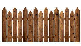 Wooden fence. Isolated on white background Royalty Free Stock Photo