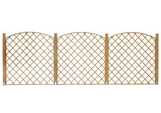 Wooden fence isolated on white background Royalty Free Stock Photos