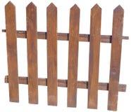 Wooden fence isolated. A wooden fence isolated on white background stock photo