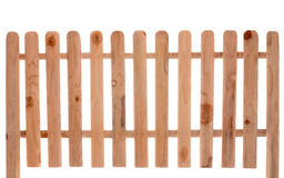 Wooden fence. Isolated on white baclground stock image