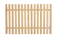 Wooden fence isolated on white. With clipping path stock images