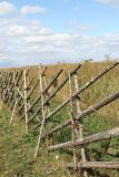 Wooden fence on Kizhi island Royalty Free Stock Photo