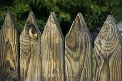 Wooden fence. The large plan royalty free stock photography
