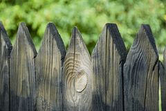Wooden fence. The large plan stock photos