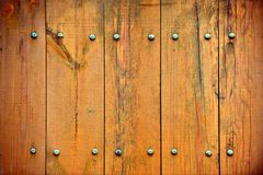 Wooden Fence with Nails Stock Photos
