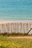 Wooden fence at Northern beach in France Royalty Free Stock Photography