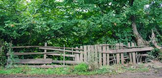 Wooden fence. Old rough wooden fence in the village royalty free stock image