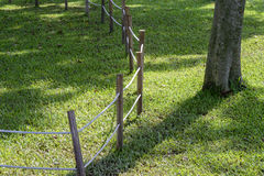 Free Wooden Fence On The Grass In Park Royalty Free Stock Photo - 83021125