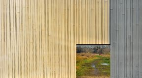 Wooden fence and open frame Royalty Free Stock Photo