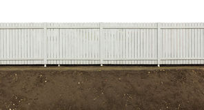 Wooden fence painted gray Royalty Free Stock Photo