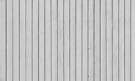 Wooden fence with parallel planks with white paint. Royalty Free Stock Photography