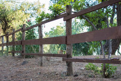Wooden fence in park Royalty Free Stock Image
