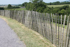Wooden Fence by the Passage Tomb Royalty Free Stock Photos