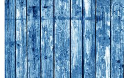 Wooden fence pattern in navy blue tone. Royalty Free Stock Photo