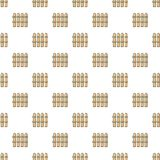 Wooden fence pattern seamless Royalty Free Stock Photos