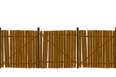 Wooden fence pattern. Wooden fence seamless pattern design over white background Royalty Free Stock Images