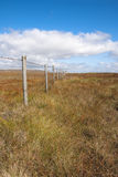 Wooden fence Peak District Stock Photography