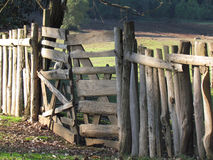 Wooden Fence. Picturesque wooden fence in the countryside Stock Photography