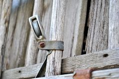 Wooden fence piece Stock Images