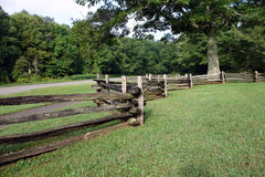 A wooden fence from pioneer days Stock Photos
